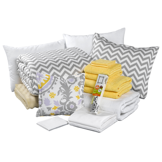 gray chevron dorm bundle