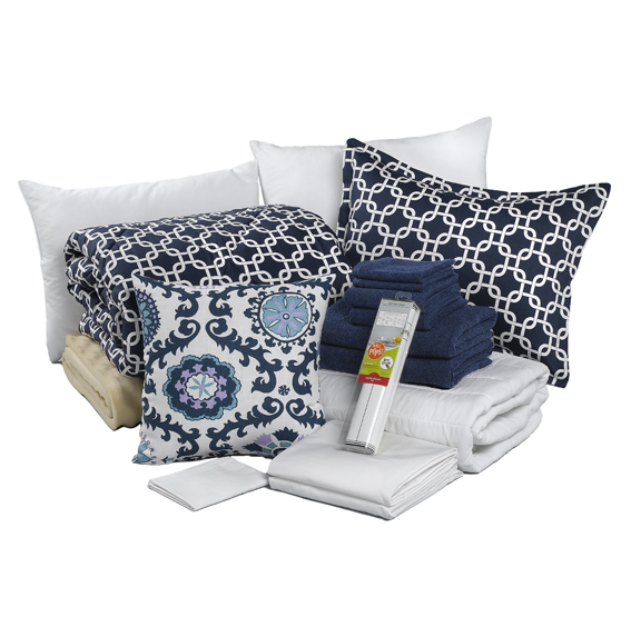 Navy Blue Dorm Bedding