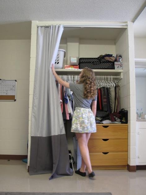 Closet Curtains For Your Dorm My Dorm Decor
