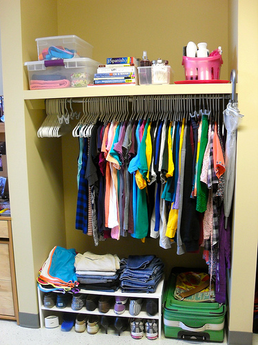 Exceptional Dorm Closet With No Closet Door (from The Lovely Side)