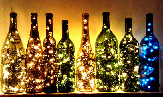 Wine Bottle Lights