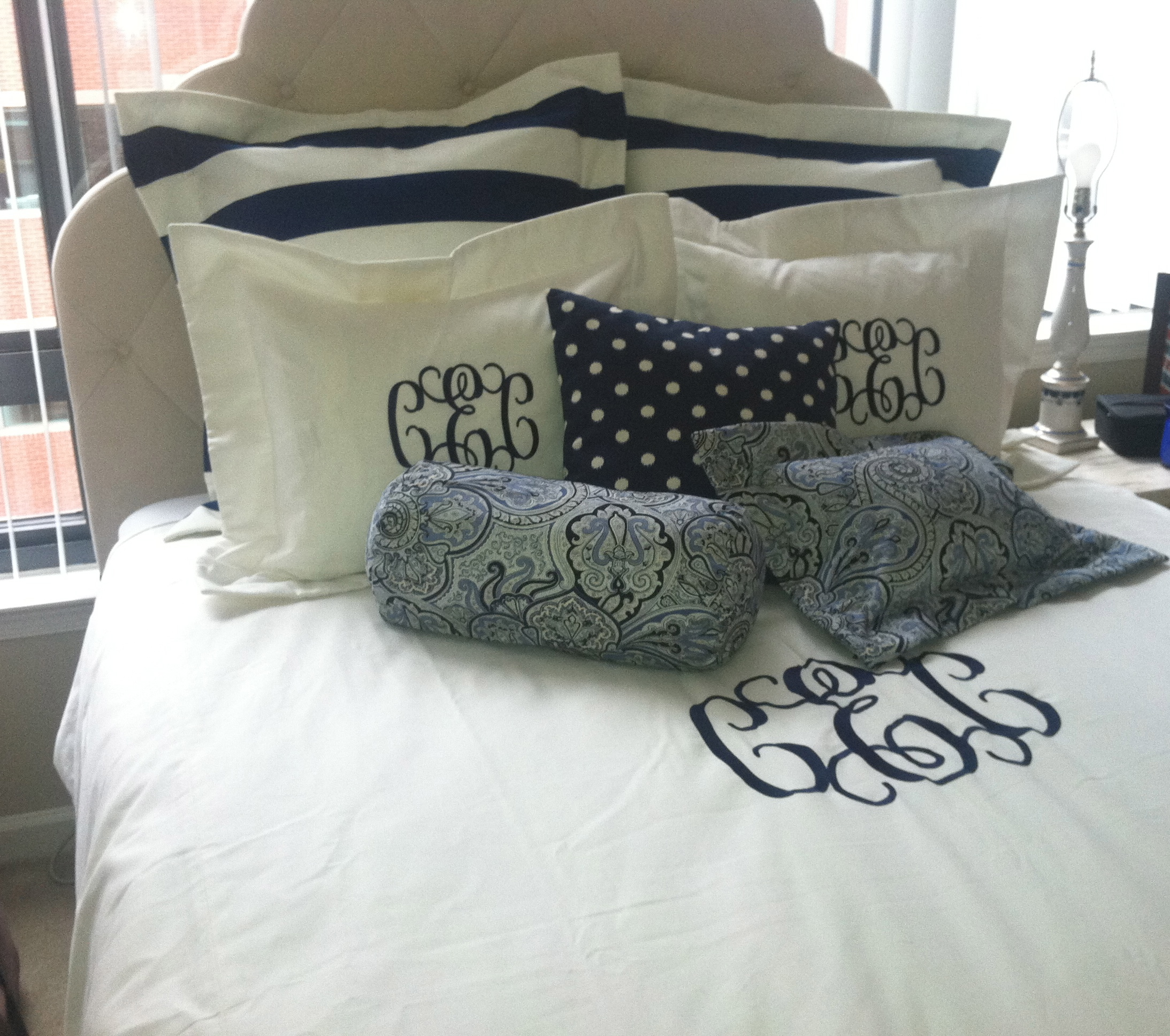 We Love Monogrammed Bedding