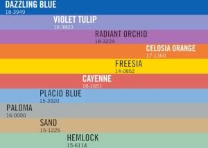 Pantone Colors of 2014