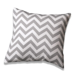 Gray Chevron Pillow by American Made Dorm