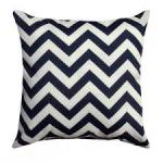 Navy Chevron Pillow American Made Dorm